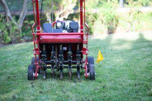 lawn aeration machine